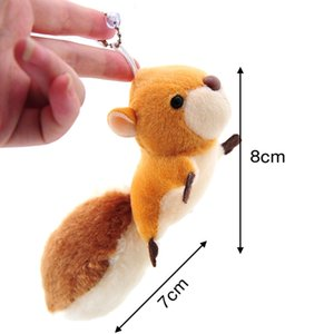 Squirrel Plush toy lovely Keychain Stuffed toy doll girls gifts bag deco pendant high quality