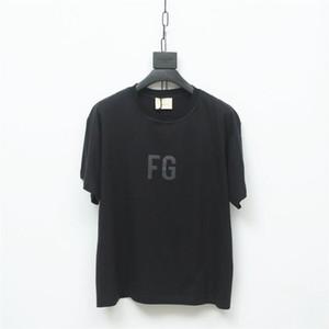 Breve maglietta del manicotto casuale Nebbia Sesto Collection FG Logo riflettente stampato Donna Uomo oversize magliette di Hiphop Men