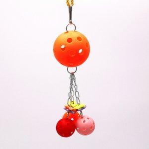 Parrot Gnaw Toys Bird Toys Plastic The Ball Gnawing String Color Ball Color Colocación aleatoria