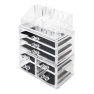 Makeup Cosmetic Organizer e bagagli Acrilico trasparente Extra Large Display Box cosmetici impilabile Set 7 Cassetti per Bathroom Vanity controsoffitto