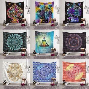 14 Styles Bohemian Mandala Tapestry Strandtuch Schal Printed Yoga-Matten Polyester Badetuch Hauptdekoration Outdoor-Pads CCA11526 30pcsN