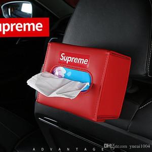 Tissue Box Car tipo visera de cuero de la PU caja de asiento de coche sostenedor del tejido plegable caja de la servilleta sostenedor del tejido auto de la visera de Sun de tipo