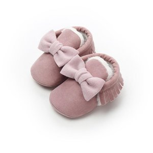 Soft Soled Baby Boy Girl Shoes Moccasins Newborn Tassel Shoes Footwear PU Suede Leather First Walker Baby