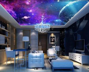 사용자 정의 모든 크기의 사진 판타지 다채로운 은하의 별이 빛나는 방 천장 차원 천장 그림