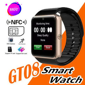 GT08 Bluetooth Smart Watch with SIM Card Slot and NFC Health Watchs for Android Samsung Apple iphone Smartphone Bracelet Smartwatch