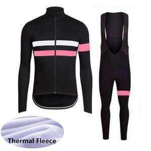 RAPHA team Winter Thermal Fleece Mens Long Sleeve cycling jersey bib pants sets Bicycle Outfits Sports Uniform S21012216