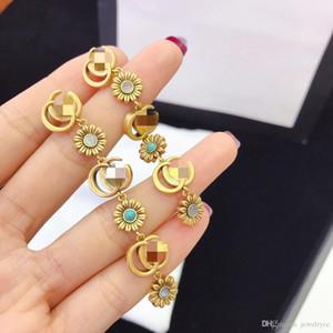 European and American fashion retro flower designer earrings luxury designer jewelry women earrings