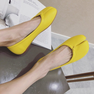 Gorgeous2019 Single Bottom Flat Part Allgleiches Toe Oma Pig's Trotters Schuhsoziologie Woman Shoes