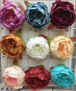 Simulation 50pcs Handkerchief Flower Artificial Flower Handmade Silk Flower Wedding Decoration Rose Head 10cm