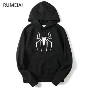 Adolescente stereoscopica Spider stampa incappucciato bag Pullover bag tridimensionale pullover tridimensionale maglione casuale sottile degli uomini
