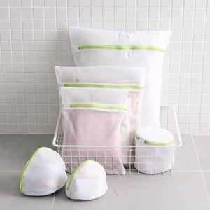 6PCS / set con zip della maglia della lavanderia Wash Borse pieghevoli Delicati reggiseno della biancheria intima calzini lavatrice Protezione Net