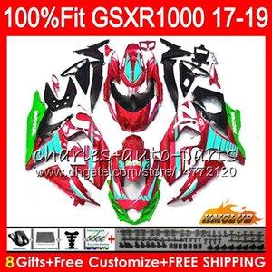 Впрыск Для SUZUKI GSX R1000 GSX-R1000 Металлический красный сток GSXR 1000 17 18 19 17HC.40 L7 L8 GSXR-1000 K17 GSXR1000 2017 2018 2019 Комплект обтекателя