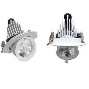Embedded luz del punto COB 12w 18w 30w 40w tiristor atenuación como la luz del tronco de la lámpara AC85V-265V de Down