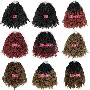 VMAE Boho Dea locs sintetica diritta 1B ERRORE 12 pollici locs Faux 18 Crochet intrecciare i capelli Europa Stati Uniti Nero tessuto dei capelli