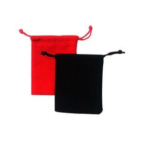 Velvet black Pure color Bags woman vintage drawstring bag for Gift diy handmade Jewelry Packaging Bag SN762