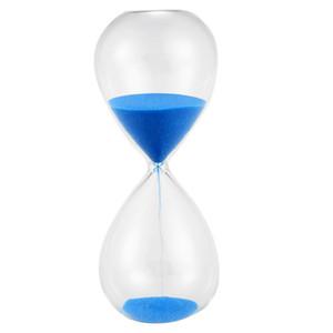 TOP Большой Мода синего Sand Glass Sandglass Песочные часы Таймер Clear Гладких стекла Домашнего бюро Декор Xmas Подарок на день рождения