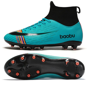 NEW 2020 Turf Indoor Kids Futsal Cleats Hard Court Training TF Football Boots Sport Sneakers Size 35