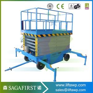 Plataforma de tijera elevadora aérea aérea eléctrica de trabajo
