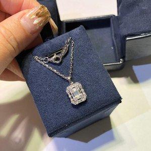 Collier Rock Sugar T Place Diamant Collier Argent 925 pour Haute Joaillerie de femmes Fête de Noël gift1