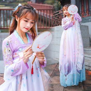 Chinese Folk Dance hanfu Costume Femme Vêtements hanfu Femme Costume de fée Outfit Tang Costumes ethniques modification DWY1162