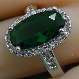 Moda Oval Verde Semi-precious Stone 925 Anel De Prata Esterlina Para As Mulheres Azul Rosa Anéis de Coquetel Com Pedra Livre Caixa De Jóias