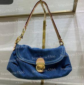 الشحن مجانا المرأة أزياء جينز حقيبة الكتف 44470 أعلى درجة الأجهزة الأفاق المتوسطة حقيبة 2019 تصميم كاوبوي رفرف حقائب 26 سنتيمتر