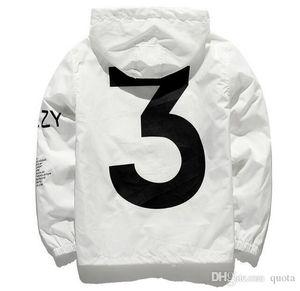 Новый дизайнер куртка мода ветровка сезон 3 мужские куртки одежда мужчины женщины скейтборд уличная одежда мужская одежда