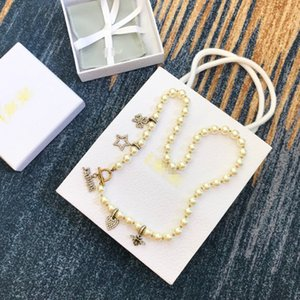 2020 New women letter Necklace Exquisite design Hot sell high quality with box Hot sell fashion beautiful luxury free shipping 0624105