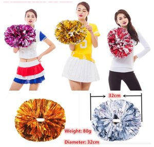 Game pompoms Cheering pompons High quality Cheerleading supplies Color and handle can choose