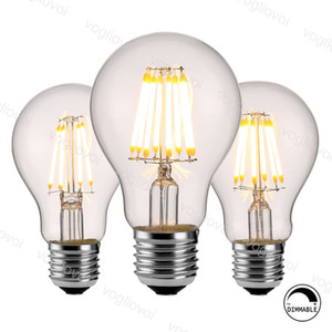 LED Bulbs A60 Dimmable Filament Classic Edsion Retro Creativity E27 4W 6W 8W Cool White Warm White For Chandeliers Pendant Table Lights DHL