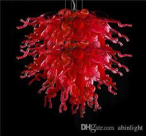 Новый дизайн Красный муранского стекла Подвесные светильники Античные хрустальные люстры с CE / UL сертификат Energy Saving СИД декоративный свет