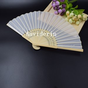 Wholsesale Wedding Hand Fan Elegant Silk Fan DIY Drawing Hand Fan Good Promotional Gift Free Shipping