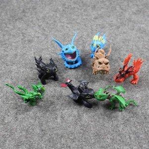 8pcs / lot Ejderhanı 2 Oyuncak Figür PVC Action Figure Çocuk oyuncakları masaüstü dekorasyon çocuk hediyeler Nasıl Eğitirsin