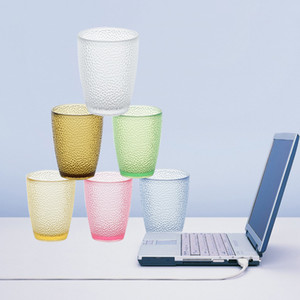 200ml-460 ml suco de frutas copos de acrílico garrafa de água de beber copos de cerveja caneca de plástico colorido água Cups GGA3500-5