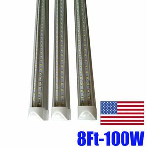 T8 Entegre Tüp V Şeklinde 1.2M 1.5M Cooler Kapı Led Tüpler Işıklar 36W 45W Enerji Tasarrufu Tüp yedek t8 4ft tüp