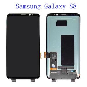 Original lcd para samsung galaxy s8 display lcd s8 além de g950 g950f g955fd g955f g955f com queimar sombra com tela de toque digitalizar