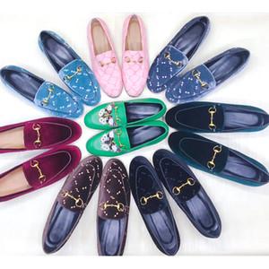 Scarpe di design da donna Fur Ciabatte mocassini Slipper Scarpe 100% Animali in vera pelle Pantofole di cuoio con catena metallica Princetown con scatola US 11,5