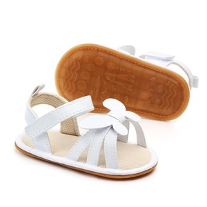 New Cute Newborn Infant Baby Girls Bowknot Princess Shoes Toddler Summer Sandals PU LeatherNon-slip Rubber ShoesSize 0-18M