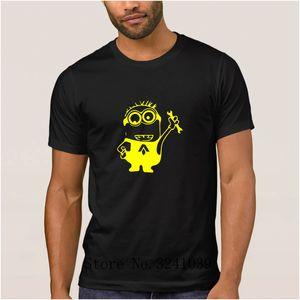 Anlarach Casual camiseta minion mecanic t shirt for men the mecanic of the Art regular t-shirt for men mens tee shirt