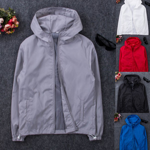 Bombardeiro Nova Primavera Outono com capuz Jacket Men Casual Jacket Magro Patchwork Windbreaker Brasão Masculino Outwear Zipper fina Marca roupa