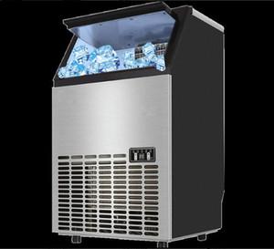 220 v Ticari buz makinesi 24 H / 55 KG büyük otomatik buz yapma makinesi için barlar, kafeler, soğuk içecekler dükkanlar