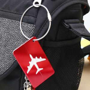 200шт алюминиевый сплав багажные бирки самолет форма квадратная идентичность адрес имя этикетки дорожные аксессуары багажная доска подарок партии