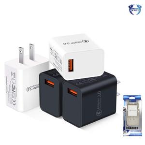 QC3. 0 Quick Charger 18W USB Charger быстрая зарядка 3.0 настенные зарядные устройства адаптер US EU Plug
