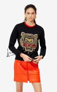 algodón carta clásico de la marca Carta sudaderas tigre bordado de la manera del tigre cabeza KenZ0 impreso jersey de felpa con capucha