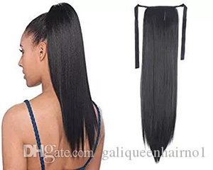 100% Natural Brazilian Remy Human hair Ponytail Horsetail Clips in on Human Hair Extension Straight Hair 100g