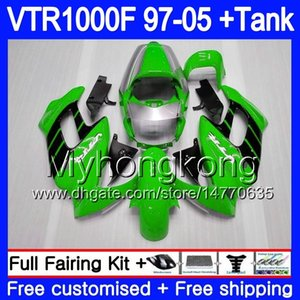 Cuerpo para HONDA VTR1000F SuperHawk 97 98 99 03 04 05 256HM.37 VTR 1000 F 1000F Verde claro VTR1000 F 1997 1998 1999 2003 2004 2005 Carenado
