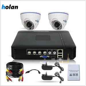 1080p CCTV-Kamera-Sicherheitssystem Überwachung DVR Recorder 4-Kanal-2 x 2-Megapixel-1080p Wetter-Dome-Kamera Outdoor / Indoor Remote Access