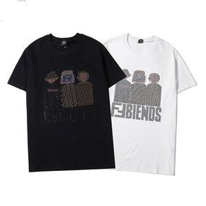 Onda listrada Imprimir Mens O design das mulheres t-shirts Streetwear Paris Amantes de Verão do pescoço de grupo T-shirts Marca Tops T-shirt adolescentes manga curta