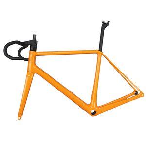 2019 arancione Tantan struttura del carbonio nuova struttura della bici della strada del carbonio disco T1000 peso leggero biciclette complete cavi interni FM639