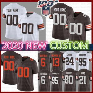 Özel Cleveland Jedrick Wills Jr Browns Jersey Bernie Kosar Kil Matthews Kareem Avı Lou Groza Ozzie Newsome'ın 2020 Leroy Kelly David Njoku